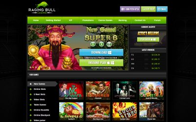 Raging Bull Casino – Now Accepting Bitcoin Deposits