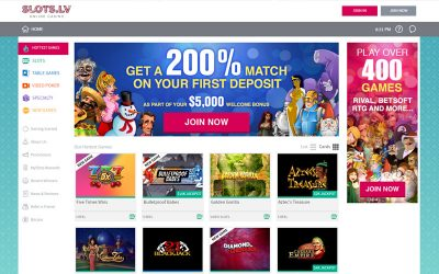 Slots.lv Online Casino Now Accepts Bitcoin!